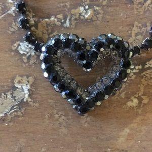 Jewelry - Black heart necklace